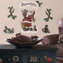 Seasonal 22 Piece Santa Wall Decal Set