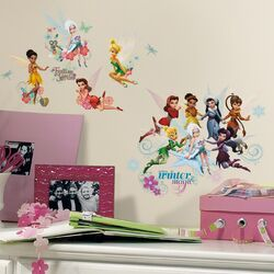 54 Piece Peel & Stick Wall Decals/Wall Stickers Disney Fairies Secret of The Wings Wall ...