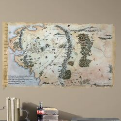 Peel & Stick The Hobbit Middle Earth Map Giant Wall Decal
