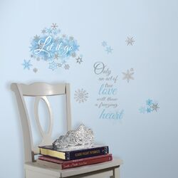 Popular Characters Frozen Let It Go Peel and Stick Wall Decal