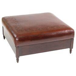 Omnia Furniture Espasio Leather Cocktail Ottoman Amp Reviews