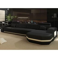 Modern Leather Monroe Sectional Sofa