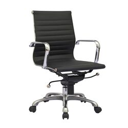 Mid-Back Leather Synthetic Office Chair