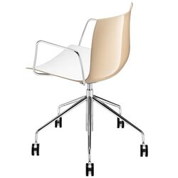 Catifa 46 Arm Desk Chair with Two-Tone Seat