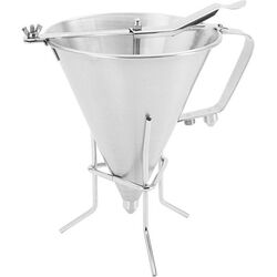 Stainless Steel Funnel/Strainer Stand (Set of 4)
