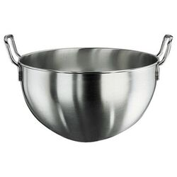 Hemisphere Mixing Bowl with Handles in Stainless Steel