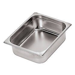 Stainless Steel Hotel Pan - 1/3 in Silver (Set of 2)