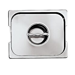 Lid with Seal and Handles for Hotel Pan in Silver