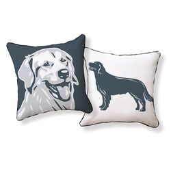 Golden Retriever Double Sided Cotton Pillow