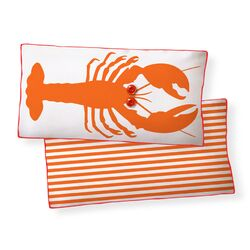 Lobster Double Sided Cotton Pillow