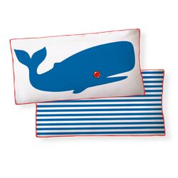 Whale Double Sided Cotton Pillow