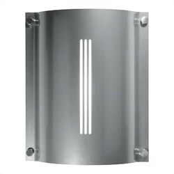 Stingray Saturn Two Light Outdoor Fluorescent Wall Sconce in Silver