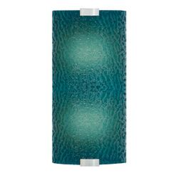 Omni Medium One Light Outdoor Fluorescent Wall Sconce with Bubble Glass shade in Silver