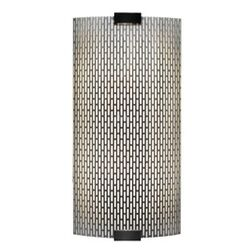 Omni 277V Medium One Light Outdoor Fluorescent Wall Sconce with Bubble Glass Shade in Bronze ...
