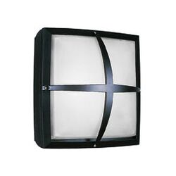 Geoform Two Light Square Ring Outdoor Fluorescent Wall Sconce in Silver