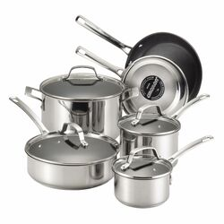 Genesis 10-Piece Stainless Steel Cookware Set