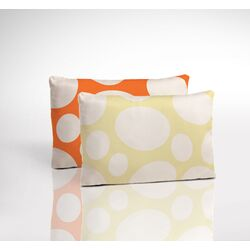 Organic Toddler 2-Sided Pillow - Riverbed Poppy and Stepping Stone Daffodil