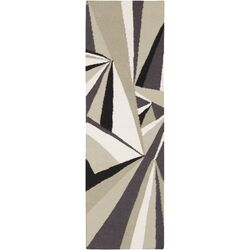 Voyages Gray/Multi Geometric Rug