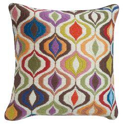 Bargello Waves Wool Pillow