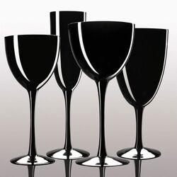 Noritake-Palais Black 8 oz. Wine Glasses