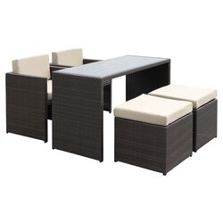 5 Piece Dining Seating Group with Cushions