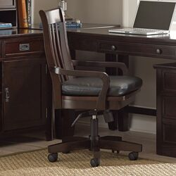 Teton High-Back Swivel Arm Chair with Casters