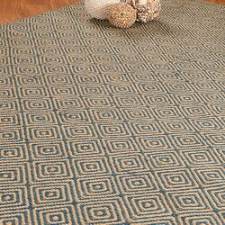 Jute Cream / Blue Recife Rug