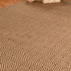 Jute Cream / Brown Realm Area Rug