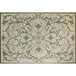 Beatrice Green/Beige Indoor/Outdoor Rug