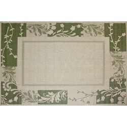 Paige Green/Beige Indoor/Outdoor Rug