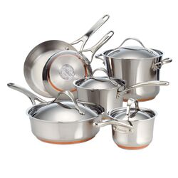 Nouvelle Stainless Steel 10-Piece Cookware Set