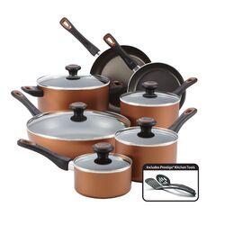 Copper 14 Piece Cookware Set