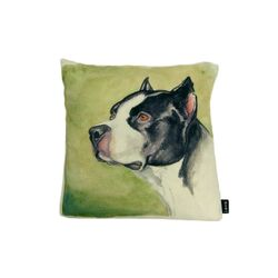 Boxer Watercolor Feather Filled Pillow