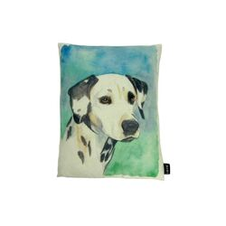 Dalmation Watercolor Feather Filled Pillow