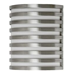 Bilbao One Light Outdoor Wall Sconce in Satin Aluminum
