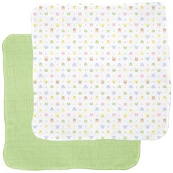 Receiving Blanket in Animal / Sage (2-Pack)