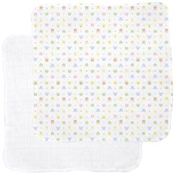 Receiving Blanket in Animal / White (2-Pack)