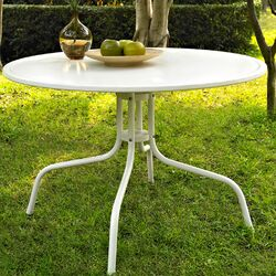 Oldsmar Metal Dining Table in White