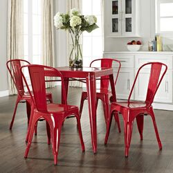 Amelia 5 Piece Caf� Dining Set