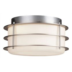 Hollywood Hills Outdoor Flush Mount in Vista Silver