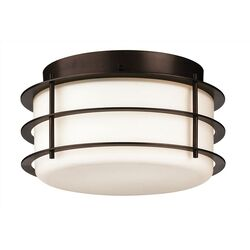 Hollywood Hills Outdoor Flush Mount in Deep Bronze