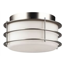 Hollywood Hills Outdoor Flush Mount in Metallic Silver