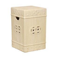 Square Ceramic Fortune Garden Stool