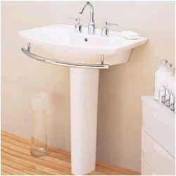 Porcher Pedestal Sink : Porcher Chipperfield Pedestal Bathroom Sink Set - 24228-00.001