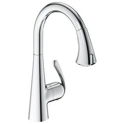 LadyLux3 Cafe Dual-Spray Kitchen Faucet with Pull-Down Spout in Real Steel