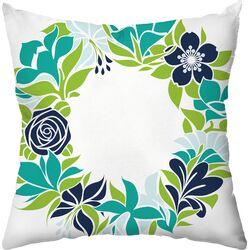 Flower Garland Outdoor Throw Pillow
