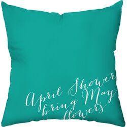 April Showers Outdoor Throw Pillow