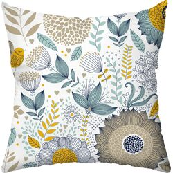 Wildflowers Outdoor Throw Pillow