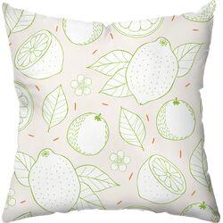 Citrus Stripes Throw Pillow
