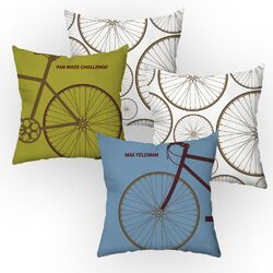 Personalized Cycle Throw Pillow Set
